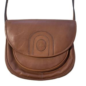 Capelli Leather Vintage Crossbody Bag